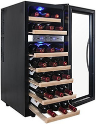 AKDY 21-Bottle Dual Zone Thermoelectric Freestanding Wine Cooler