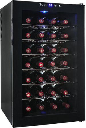 AKDY 28-Bottle Thermoelectric Freestanding Wine Cooler