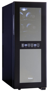 Haier Dual Zone Curved Door with Smoked Glass Wine Cellar