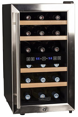 Koldfront 18 Bottle Wine Cooler Review Dual Zone Best Pick