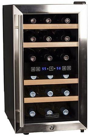 Koldfront 18-Bottle Dual Zone Wine Cooler