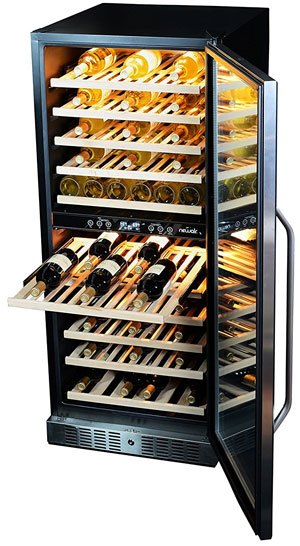 NewAir AWR-1160DB Premier Gold Series Wine Cooler